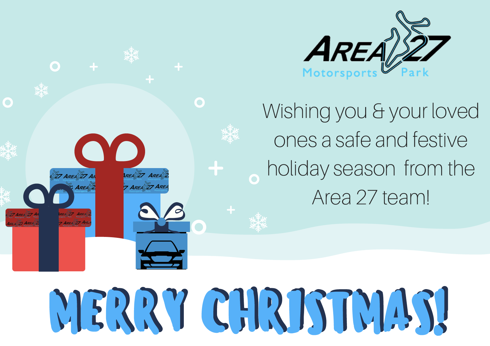 Happy Holidays from the Area 27 Team!